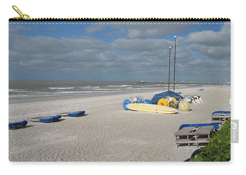 Beach Carry-all Pouch featuring the photograph Tranquility by Christiane Schulze Art And Photography