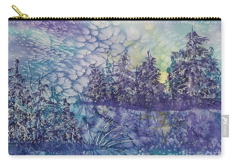 Frosty Winter Mornin Carry-all Pouch featuring the painting Tranquility by Ellen Levinson