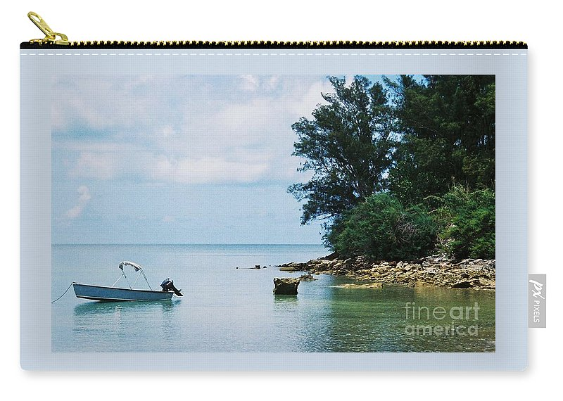 Art From Bermuda Serene Stock Shot Outdoors Nautical Scene Travel Trees Tranquil Water Reflections Calming Vision Meditation Film Stock Wood Print Metal Frame Canvas Print Poster Print Available On Tote Bags Mugs T Shirts Shower Curtains Pouches Weekender Tote Bags Phone Cases Throw Pillows Duvet Covers And Beach Towels Carry-all Pouch featuring the photograph Tranquility In Bermuda by Marcus Dagan