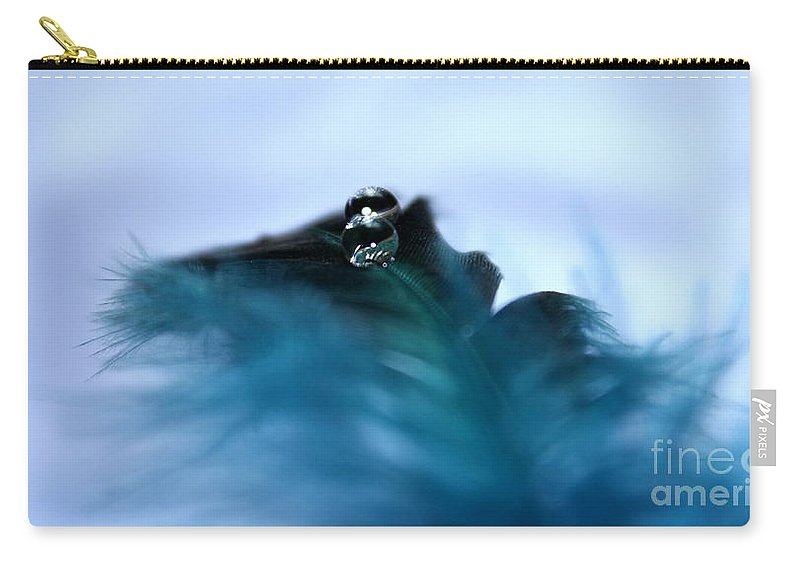 Feather Carry-all Pouch featuring the photograph Tranquility by Krissy Katsimbras