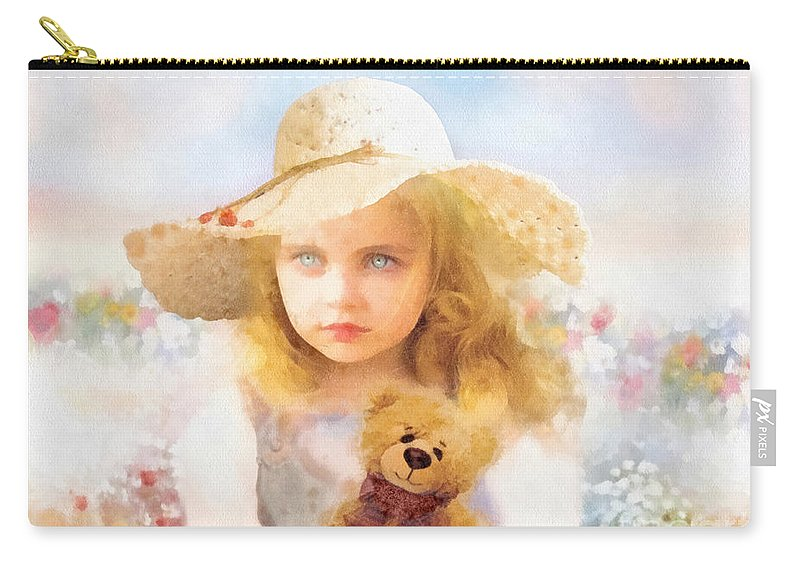 Tranquility Carry-all Pouch featuring the painting Tranquility by Mo T