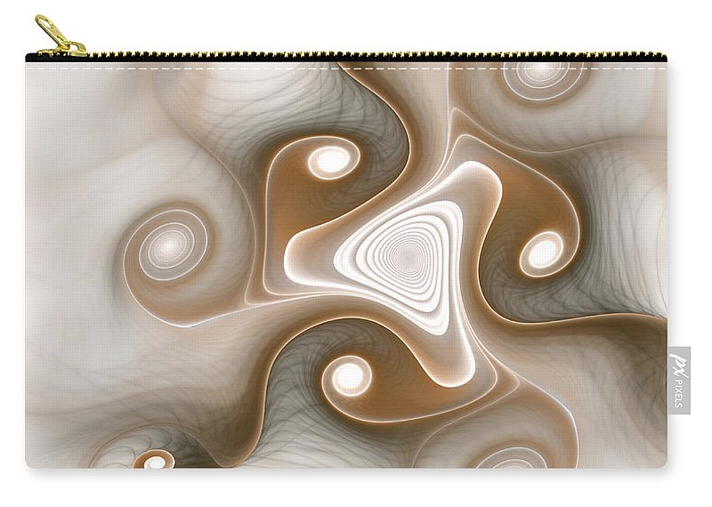 Abstract Carry-all Pouch featuring the digital art Tranquility by Svetlana Nikolova