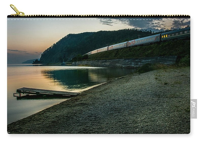 Sunset Carry-all Pouch featuring the photograph Trans Siberian Sunset by Andrew Matwijec