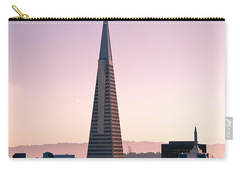 Architecture Carry-all Pouch featuring the photograph Transamerica Pyramid by Zina Zinchik