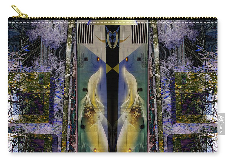 Abstract Carry-all Pouch featuring the photograph Transformers Transition Bus Man by Sirron Kyles