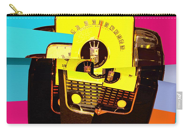 Pop Art Carry-all Pouch featuring the mixed media Transistor Deconstruction by Dominic Piperata