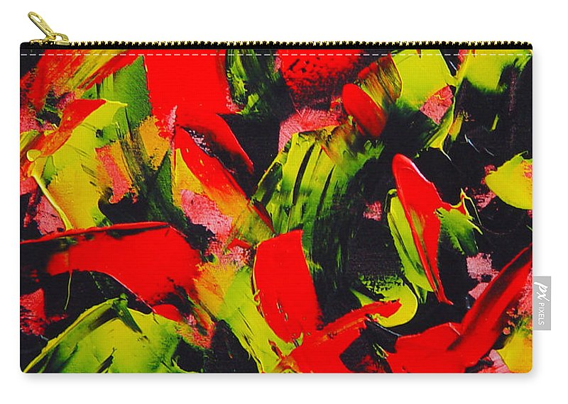Abstract Carry-all Pouch featuring the painting Transitions IIi by Dean Triolo