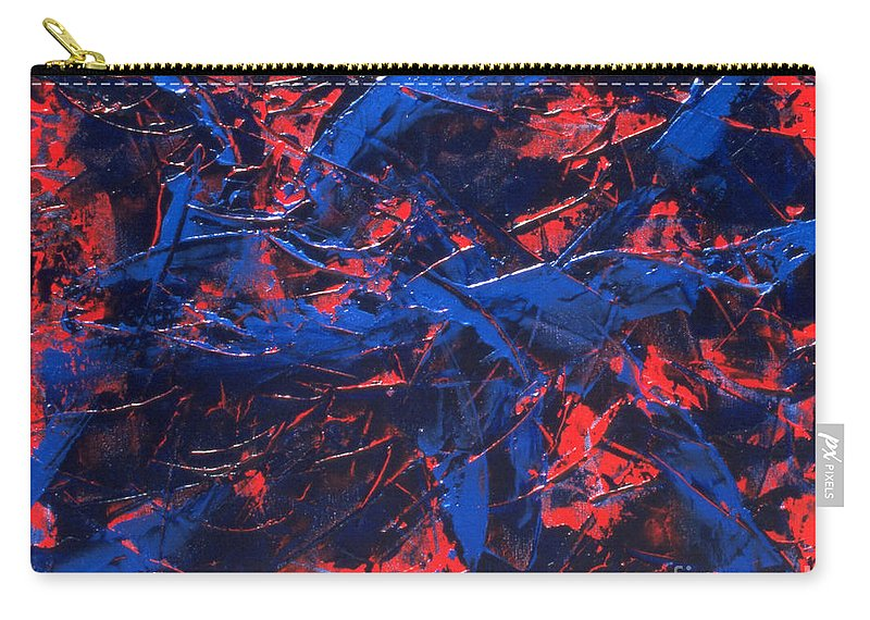 Abstract Carry-all Pouch featuring the painting Transitions Iv by Dean Triolo