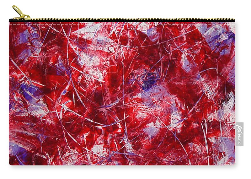 Abstract Carry-all Pouch featuring the painting Transitions With White Red And Violet by Dean Triolo