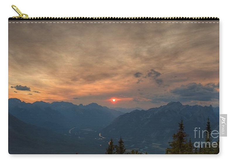 Sun Carry-all Pouch featuring the photograph Translucent Sunset In Widescape by James Anderson