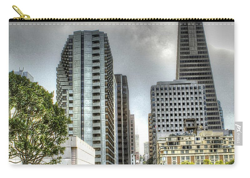 San Francisco Carry-all Pouch featuring the photograph Transmerica Pyramid From The Embarcadero by SC Heffner