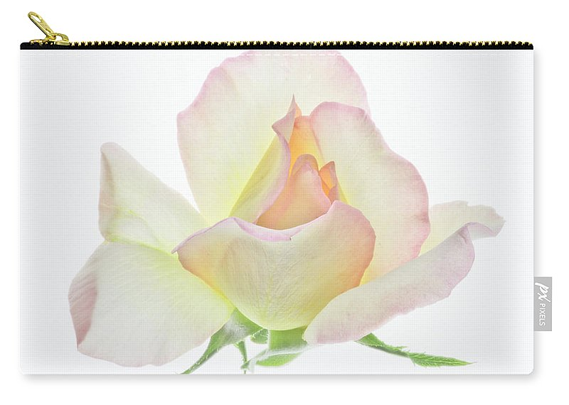 Rose Carry-all Pouch featuring the photograph Transparent Rose 1 by James Ekstrom