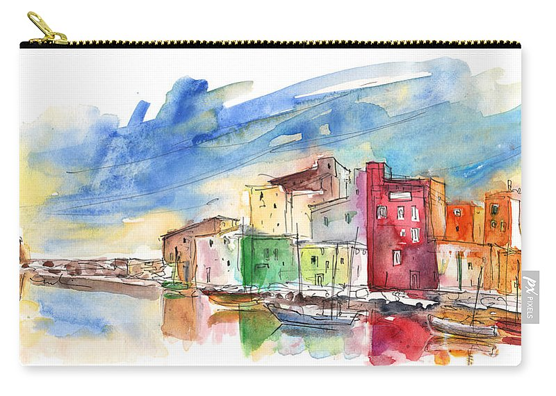 Travel Carry-all Pouch featuring the painting Trapani 04 by Miki De Goodaboom
