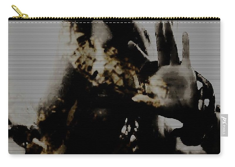 Black And White Carry-all Pouch featuring the photograph Trapped Inside by Jessica Shelton