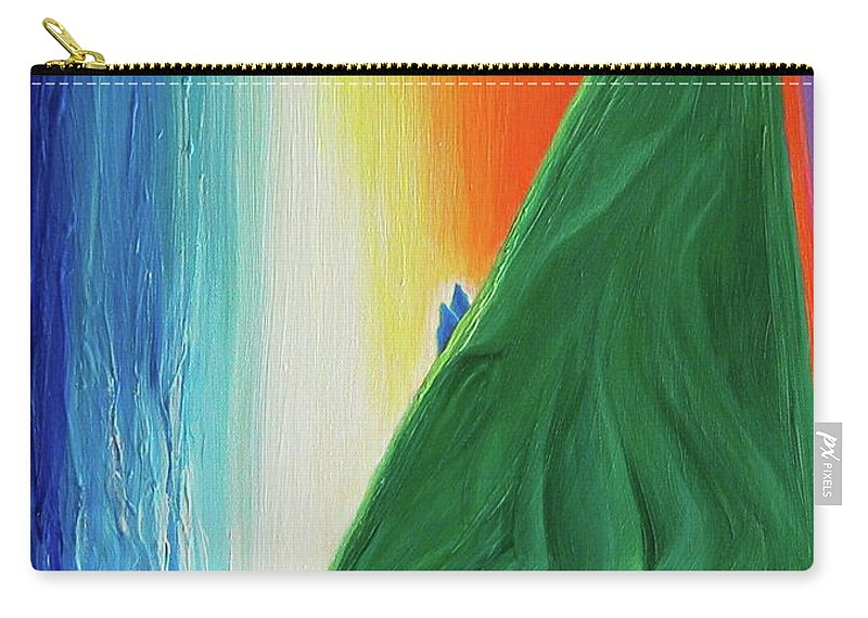 Waterfall Carry-all Pouch featuring the painting Travelers Rainbow Waterfall By Jrr by First Star Art