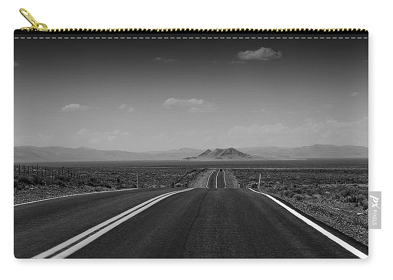 Road Carry-all Pouch featuring the photograph Traveling Down The Road Into The Mountains by LeeAnn McLaneGoetz McLaneGoetzStudioLLCcom