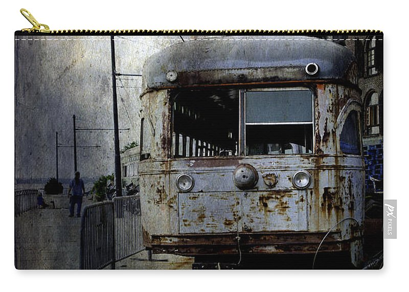 Bus Carry-all Pouch featuring the photograph Travelling Through Time 2 by Madeline Ellis
