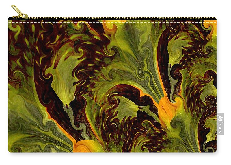 Treacherous Carry-all Pouch featuring the digital art Treacherous by Maria Urso