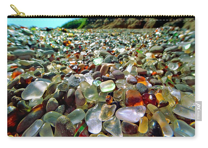 Film Carry-all Pouch featuring the photograph Treasure Beach by Daniel Furon