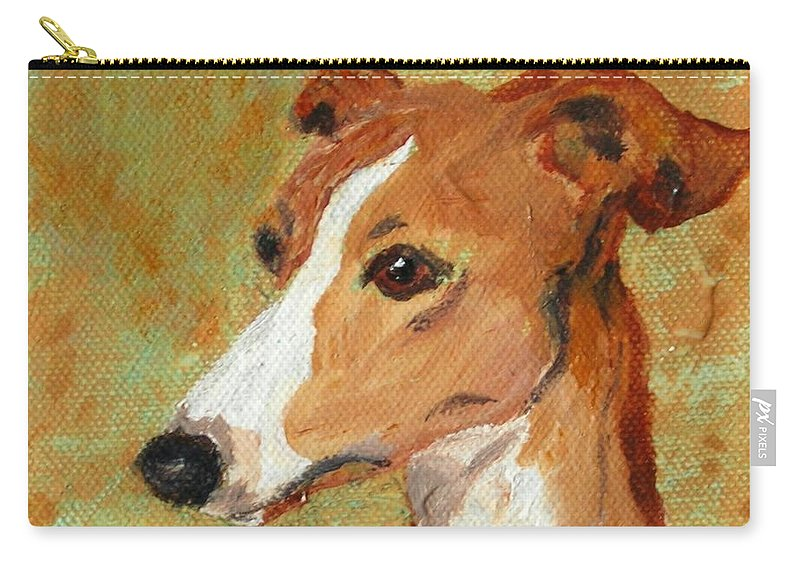 Acrylic Carry-all Pouch featuring the painting Treasured Moments by Cori Solomon