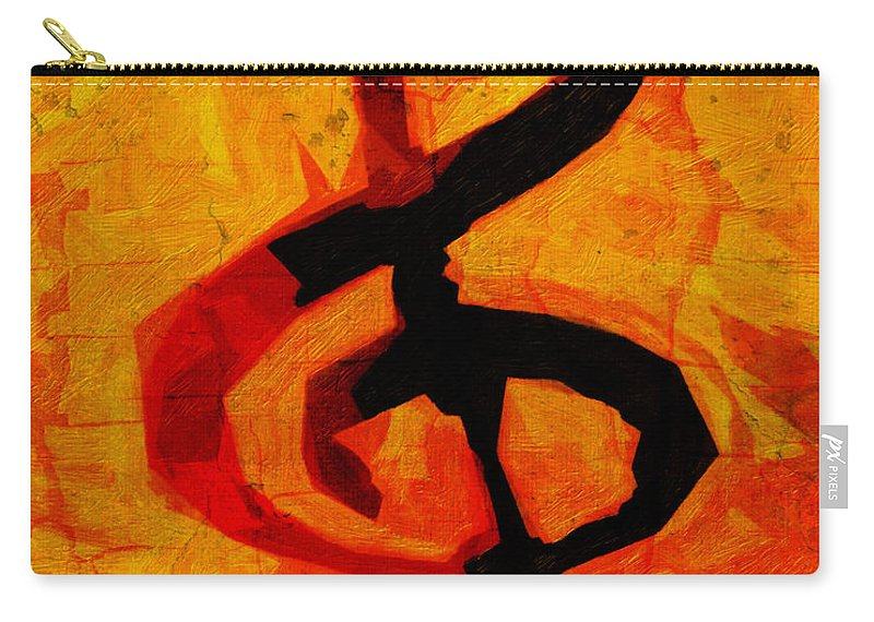 Music Carry-all Pouch featuring the digital art Treble Distressed by Terry Fiala