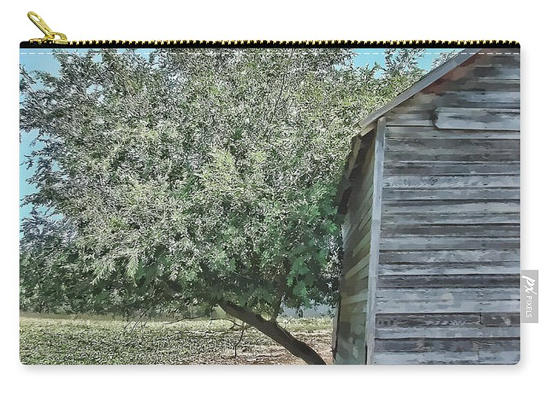 Tree Carry-all Pouch featuring the photograph Tree And Building by Cathy Anderson