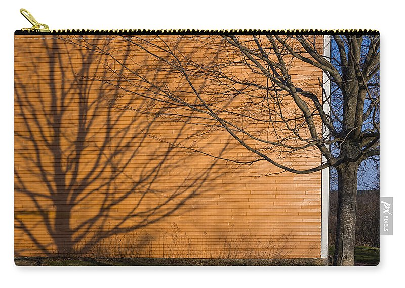 Orange Carry-all Pouch featuring the photograph Tree And Shadow At Cogswells Grant by David Stone