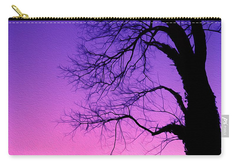 Lake Ontario Carry-all Pouch featuring the photograph Tree At Sunrise by Tracy Winter