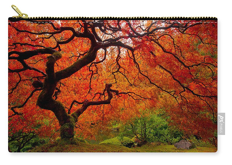 Portland Carry-all Pouch featuring the photograph Tree Fire by Darren White