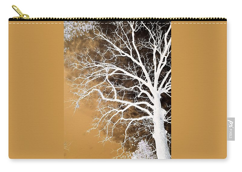 Digital Art Carry-all Pouch featuring the digital art Tree In Abstract by Linda Unger