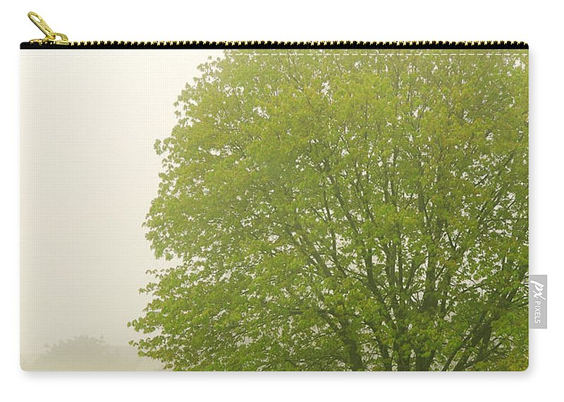 Fog Carry-all Pouch featuring the photograph Tree In Fog by Elena Elisseeva