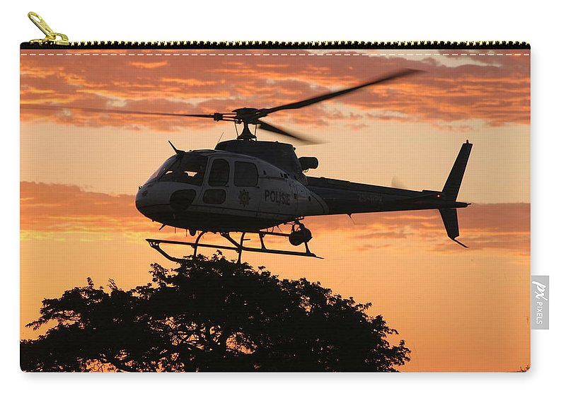 Eurocopter As350 B3 Carry-all Pouch featuring the photograph Tree Landing by Paul Job