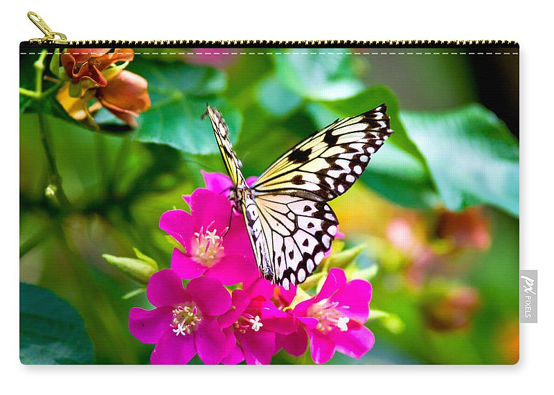 Tree Nymph Butterfly Carry-all Pouch featuring the photograph Tree Nymph Butterfly by Vanessa Valdes