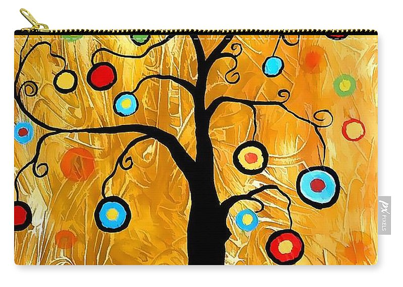 Tree Carry-all Pouch featuring the digital art Tree Of Happiness 647 - Marucii by Marek Lutek