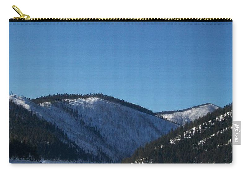 Snow Carry-all Pouch featuring the photograph Tree Shadows by Jewel Hengen