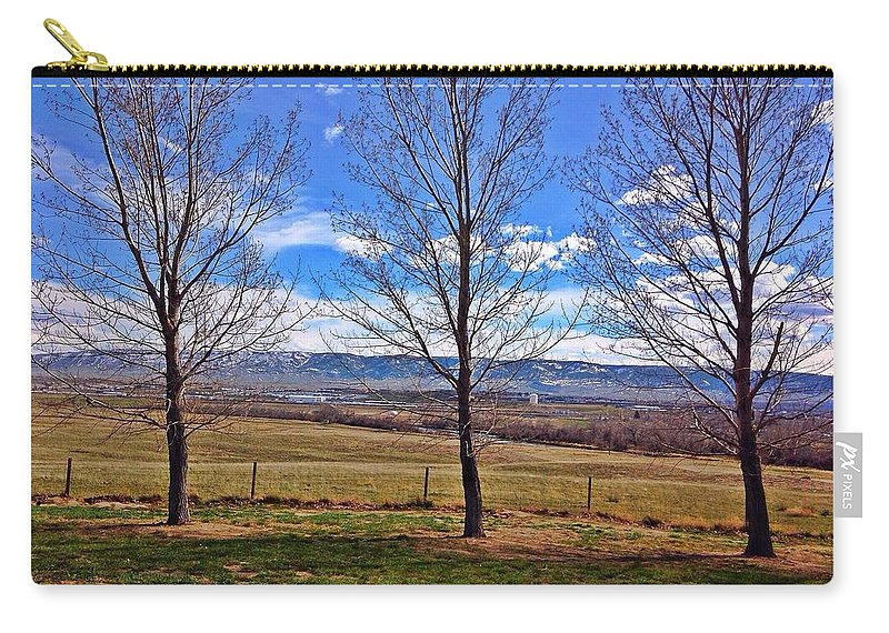 Nature Carry-all Pouch featuring the photograph Tree View by Sarah Jane Thompson