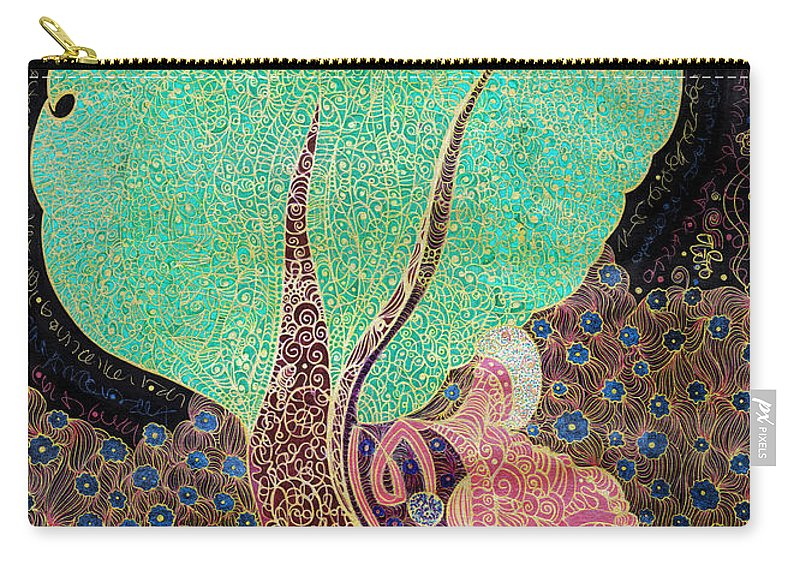 Tree Carry-all Pouch featuring the drawing Tree With Magic by Alex Art and Photo