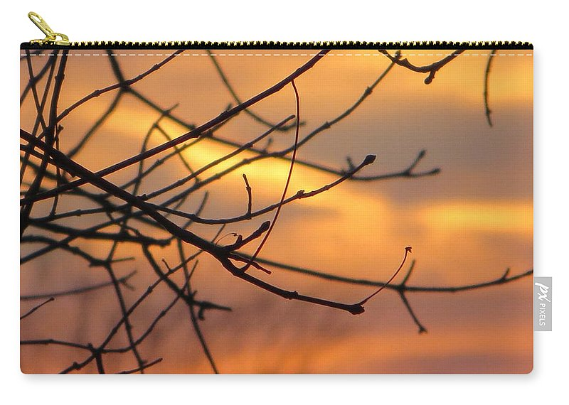 Trees Ablaze In Autumn Carry-all Pouch featuring the photograph Trees Ablaze In Autumn by Sonali Gangane