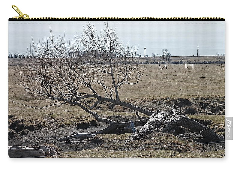 Trees Carry-all Pouch featuring the photograph Trees And Early Spring Creek by Wayne Williams