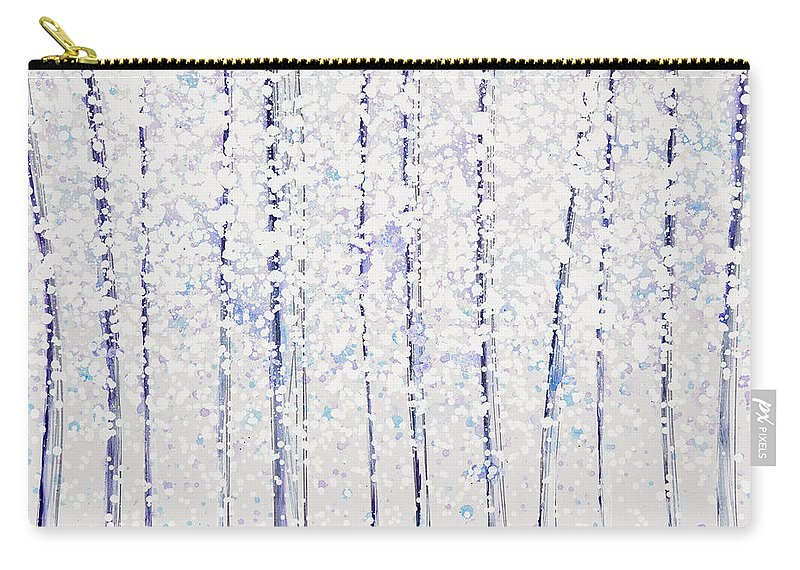 Beautiful Carry-all Pouch featuring the painting Trees At Twilight Xx by Jerome Lawrence