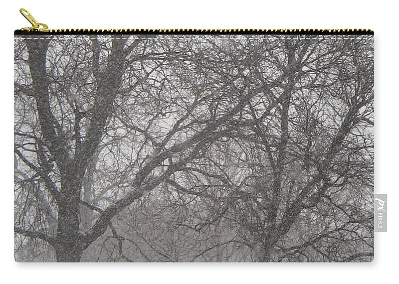 Masonic Temple Carry-all Pouch featuring the photograph Trees Of Silence by Crystal Hubbard