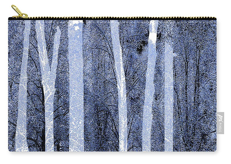 Color Carry-all Pouch featuring the painting Trees Square by Tony Rubino
