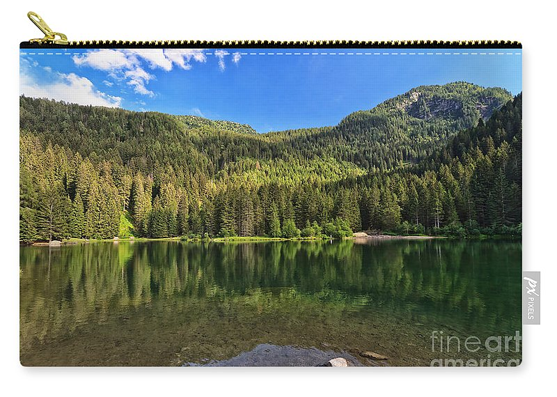 Alpine Carry-all Pouch featuring the photograph Trentino - Caprioli Lake by Antonio Scarpi