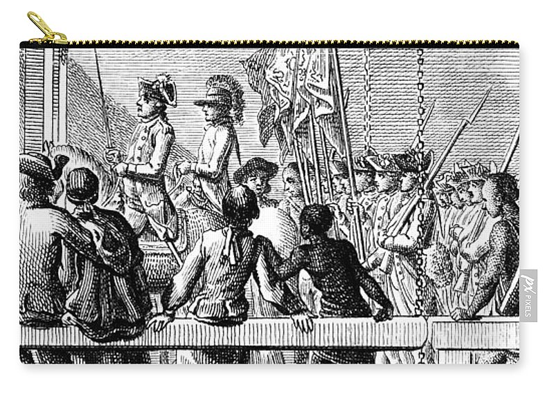 1776 Carry-all Pouch featuring the photograph Trenton: Prisoners, 1776 by Granger