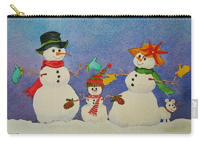 Winter Carry-all Pouch featuring the painting Tres Chic by Mary Ellen Mueller Legault