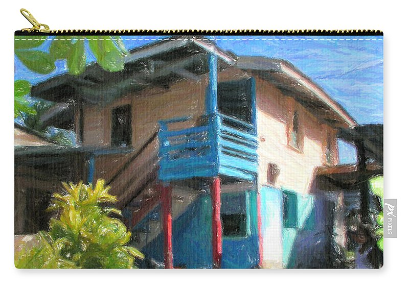 Typical Carry-all Pouch featuring the digital art Trevas House by Jon Delorme