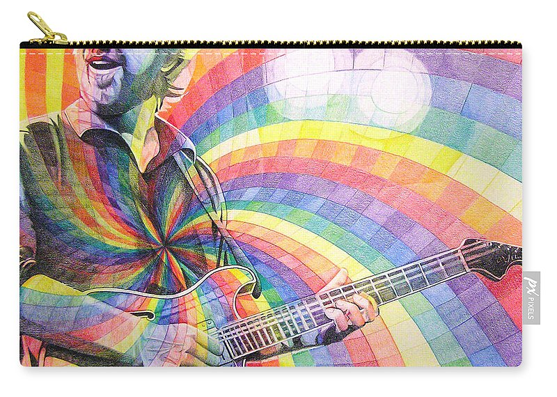 Phish Carry-all Pouch featuring the drawing Trey Anastasio Rainbow by Joshua Morton