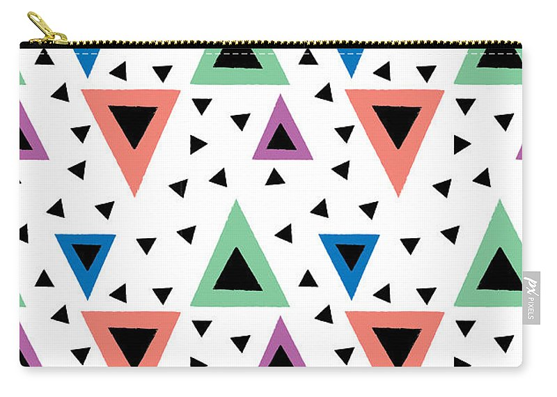 Susan Claire Carry-all Pouch featuring the photograph Triangular Dance Repeat Print by MGL Meiklejohn Graphics Licensing