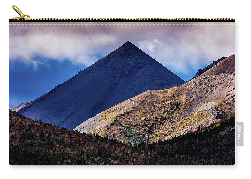 Photography Carry-all Pouch featuring the photograph Triangular Pyramid Mountain, Denali by Panoramic Images