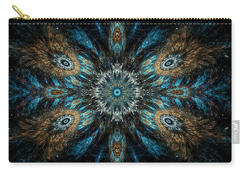 Fractal Carry-all Pouch featuring the digital art Tribal by GJ Blackman